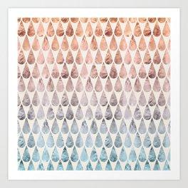 Rainbow Drops Art Print
