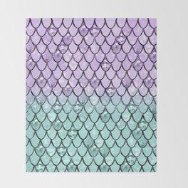 Mermaid Princess Glitter Scales #2 #shiny #pastel #decor #art #society6 Throw Blanket