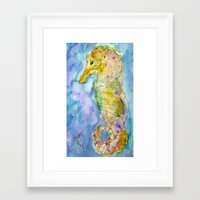 sea horse Framed Art Prints featuring sea horse by Kay Weber