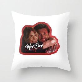 MerDer Grey's Anatomy Meredith & Derek Ship Throw Pillow