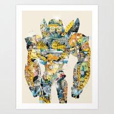 pop art bumblebee Art Print