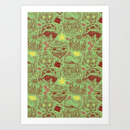 Have a Hipster Christmas! Art Print
