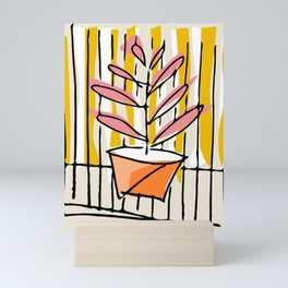 Summer Urban flowerpot Mini Art Print