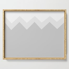 Geometric abstract - zigzag, gray. Serving Tray