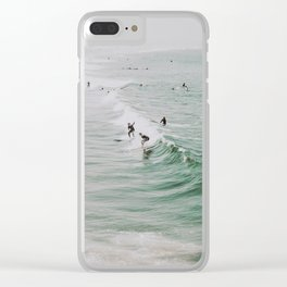 lets surf iv / venice beach, california Clear iPhone Case