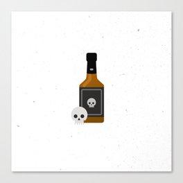 Whisky Death Canvas Print