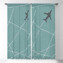 The Jet Set - Lagoon Blue Blackout Curtain