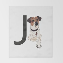 J is for Jack Russell Terrier Throw Blanket