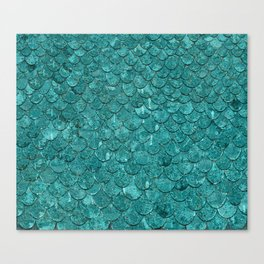 Real Mermaid Scales Canvas Print