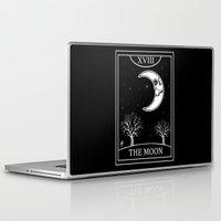 tarot Laptop & iPad Skins featuring The Moon Tarot Card by Natasha Sines