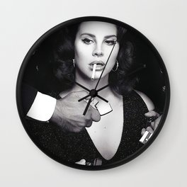 La-na Del Rey, Stylish Print, Gifts, Modern, Prints Wall Clock