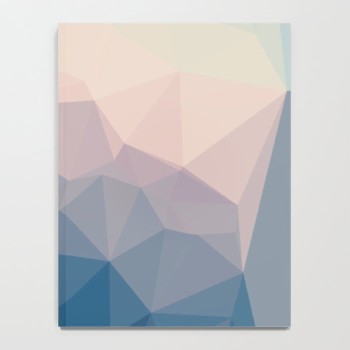 BE WITH ME - TRIANGLES ABSTRACT #PINK #BLUE #1 Notebook