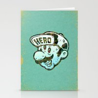 super hero Stationery Cards featuring Hero by Beery Method