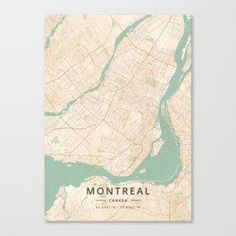 Montreal, Canada - Vintage Map Leinwanddruck