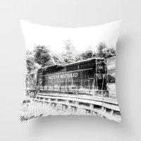 train Throw Pillows featuring Train by Geni
