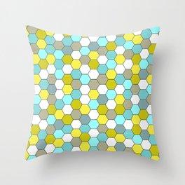honeycomb tile spring Throw Pillow