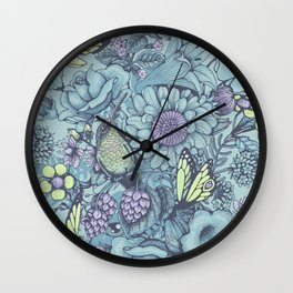 Beauty (eye of the beholder) - aqua version Wall Clock