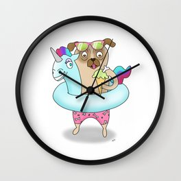 Dog Days Of Summer Wall Clock