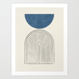 Arch Balance Blue Art Print