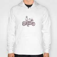 motorcycle Hoodies featuring Motorcycle by Sky Letson