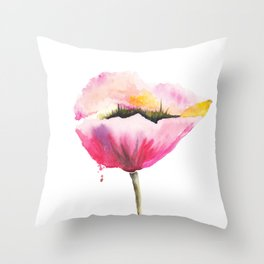 Poppy flower Throw Pillow