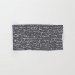 Math Equations // Charcoal Hand & Bath Towel