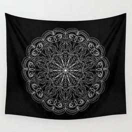 Mandala, Exhibits Radial Balance, Spiritual and Ritual Symbol Wall Tapestry