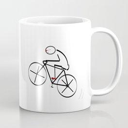 Stylized Bicyclist Coffee Mug