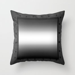Faux steel plate with rivets Throw Pillow