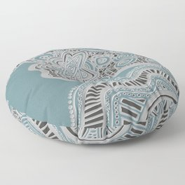 Just a Squiggle Here and There Floor Pillow