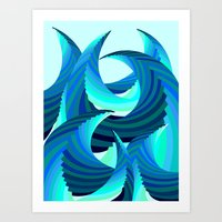 Grafidoodle Waves I Art Print