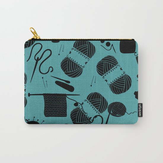 yarn teal Carry-All Pouch