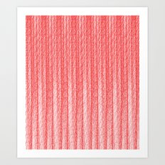 Red Curtain Art Print
