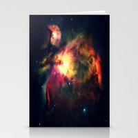 nebula Stationery Cards featuring Orion NEbula Dark & Colorful by 2sweet4words Designs