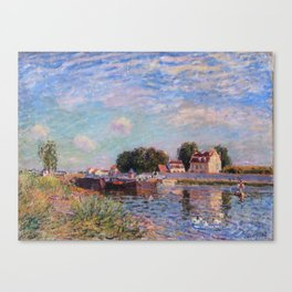 The Canal at Saint-Mammes Canvas Print