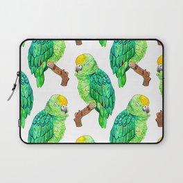 Sleepy Parrot Watercolor Pattern Laptop Sleeve