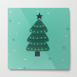 May Your Days Be Merry And Bright Christmas Tree Print Metal Print