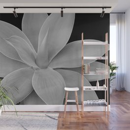 Gray Black Agave Romance #1 #tropical #decor #art #society6 Wall Mural