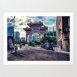 Newcastle upon Tyne city art #newcastle #england Art Print
