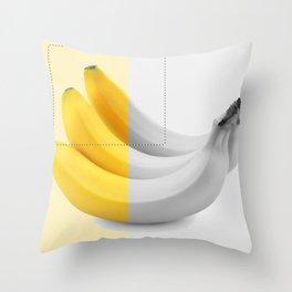 Banana layer Throw Pillow