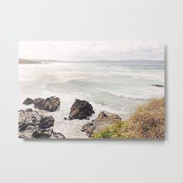 Sea shore Godrevy, Cornwall, England Metal Print