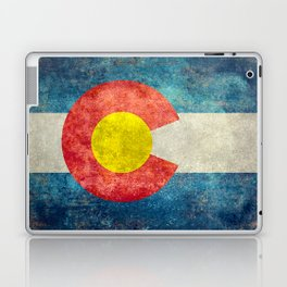 Colorado State Flag in Vintage Grunge Laptop & iPad Skin