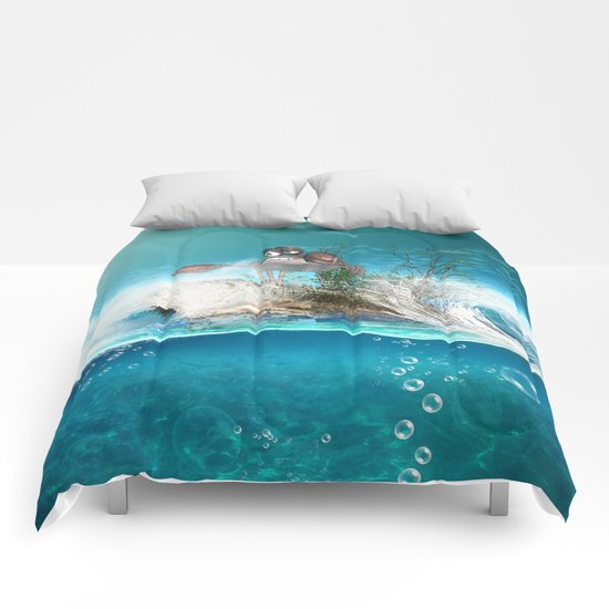 Funny crab Comforters
