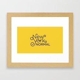 New York Normal Framed Art Print