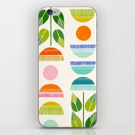 Sugar Blooms - Abstract Retro Inspired Design iPhone Skin