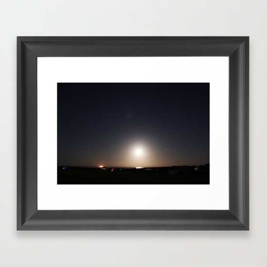 The Earth is a sphere Framed Art Print