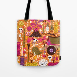 Tiki Freaks do the Hulaween Tote Bag