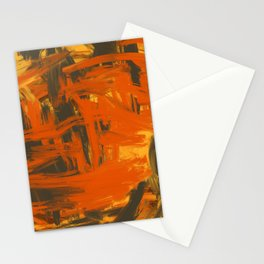 Orange & Olive Abstract Stationery Cards
