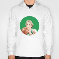 larry Hoodies featuring Larry Bird by AkidNamedWalter