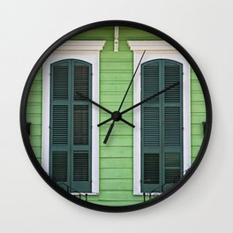 Green Creole Cottage Wall Clock
